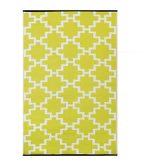 Solitude Indoor/Outdoor Rug, Celery Green and White, 150x240 cm