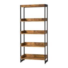Coaster Furniture - Estrella Industrial Bookcase With 4 Open Shelves -  Bookcases