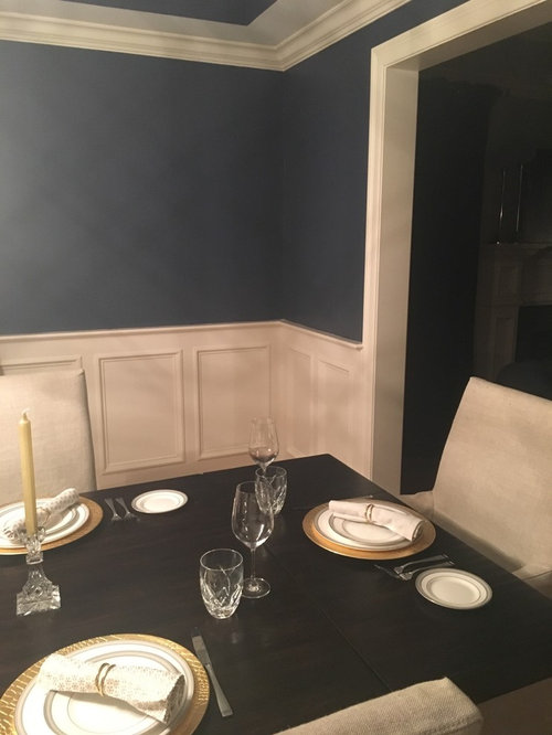 I Just Painted My Dining Room Benjamin Moore Newburyport Blue