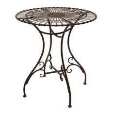 rustic outdoor dining sets wicker patio rustic garden dining table in rust patina 50 most popular outdoor furniture for 2018 houzz