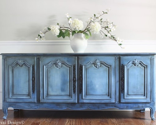 Hand Painted Antique Blue French Provincial Sideboard Buffet - Products - Hand Painted Antique Blue French Provincial Sideboard Buffet