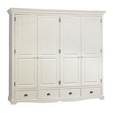 Windsor White Wardrobe, 4 Doors and 4 Drawers