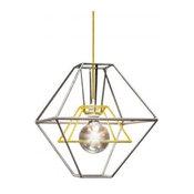 Fish Design Market Pixi Pendant Lamp, Yellow and Silver