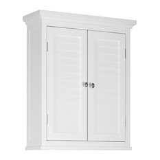 Elegant Home Fashions - Elegant Home Fashions Slone 2-Door Wall Cabinet, White - Bathroom Cabinets