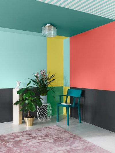 color me crazy 12 knallige farbbeispiele f r w nde und. Black Bedroom Furniture Sets. Home Design Ideas