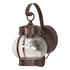 50 most popular onion outdoor wall lanterns for 2018 houzz satco products nuvo 1 light 11 wall lantern onion lantern with clear seed aloadofball Gallery