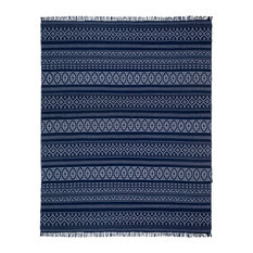 Geo Cotton Rug, Blue, 10'x14'