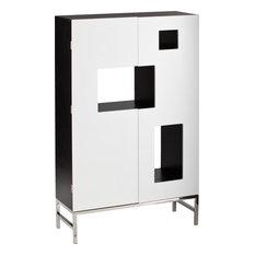 Superbe Shadowbox Wine/Bar Cabinet, White