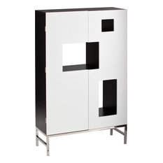 Southern Enterprises - Shadowbox Wine/Bar Cabinet White - Wine and Bar Cabinets  sc 1 st  Houzz & 50 Most Popular Contemporary Wine and Bar Cabinets for 2018 | Houzz