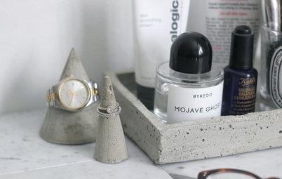 Cómo hacer pequeños conos de cemento y una bandeja para tus joyas