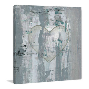 """""""Painted Heart"""" Painting Print on Wrapped Canvas, 40""""x40"""""""