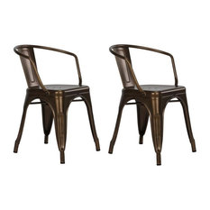 dhp dhp elise tabouret metal dining chairs antique bronze set of 2