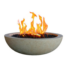 Fire Topper LLC - Patio Table Top Fire Bowl, Pearl Gray - Fire Pits