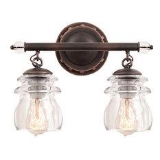 Kalco Brierfield 2-Light Vanity Fixture, Antique Copper