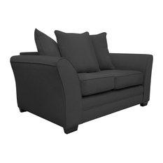 Westbridge Modern 2-Seater Scatter Back Sofa, Stirling Grey