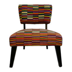 Vintage Stripe Ivory Coast Textile Chair