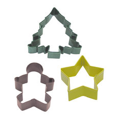 3-Piece Christmas Cookie Cutter Set With Bag