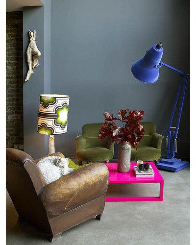 Eclectic  Abigail Ahern's basement living room