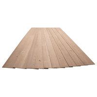 "3/16""x5-1/8""x46-1/2"" Pine Wood Plank Self-Adhesive, Natural Tan, 10-Pack Wood Pl"