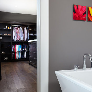 Cherry Master Closet with Granite Coutertops