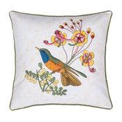 Embroidered Rio Bird Pillow