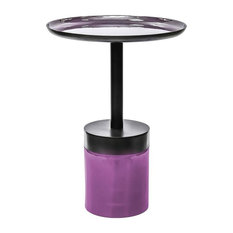 Artist Side Table, Plum and Violet