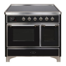 40 Majestic II Range With Glass Door in Glossy Black with Chrome (NG)