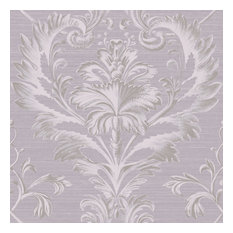 Tangler Purple Brilliant Damask Wallpaper Bolt