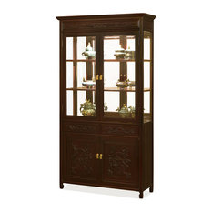 40 Rosewood Dragon Motif China Cabinet