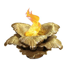 Chatsworth Indoor/Outdoor Fireplace, Gold
