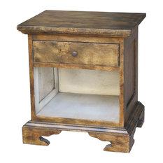 Handmade Aperto Wood Night End Table