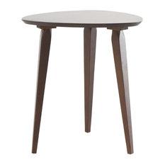 GDF Studio Finnian Modernistic Designed Wood Finish End Table, Walnut