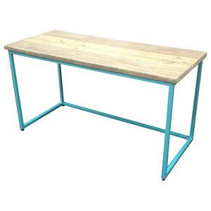 Standard Reclaimed Wood Desk, Blue, Large