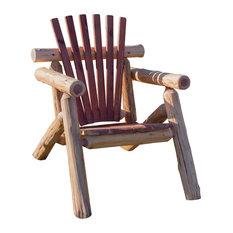 Red Cedar Log Outdoor Adirondack Chair