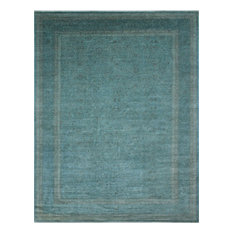 Overdyed Omayma Teal Blue Rug, 8'10x11'11