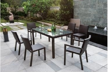 tahiti garden furniture 6 seater dining chairs and table set outdoor dining sets - Garden Furniture The Range