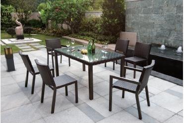 tahiti garden furniture 6 seater dining chairs and table set outdoor dining sets - Garden Furniture The Range