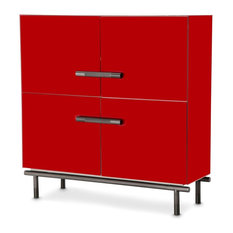 AICO State St. Accent Cabinet Red