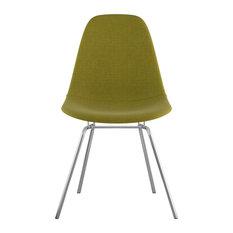 Mid Century Classroom Side Chair Avocado Green