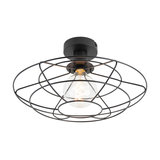 Vintage Ceiling Lamp 37cm Black with Wire Frame - Laurent