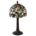 Dale Tiffany - Lana Tiffany-Style Accent Lamp - Bring the beauty of stained glass right into the heart of your design with the Lana Tiffany-Style Accent Lamp. This fixture is crafted of brass with a hand-rolled art glass shade that handsomely diffuses the light from within.