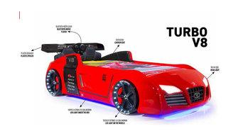 Autobett Turbo V8 rot
