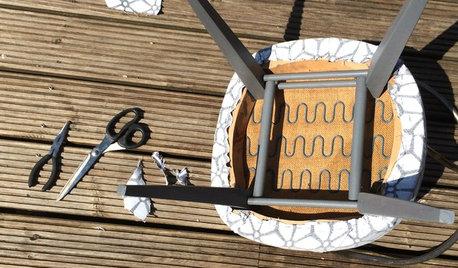 DIY : Donner une seconde jeunesse à un fauteuil chiné en brocante