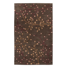 "Surya Athena ATH5052 Brown/Red Transitional Area Rug, Square 9'9"" x 9'9"""