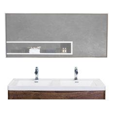 Metal Framed Bathroom Mirrors