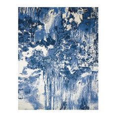 Nourison Twilight Blue and Ivory Rug, 168x244 Cm