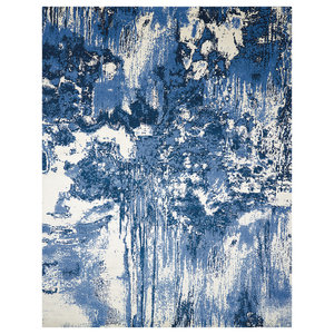 Nourison Twilight Blue and Ivory Rug, 168x244 Cm