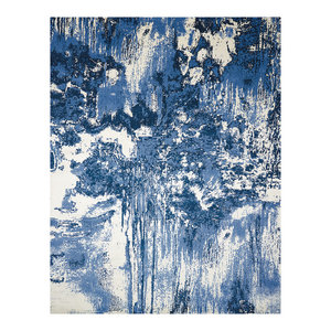 Nourison Twilight Blue and Ivory Rug, 236x297 Cm