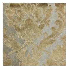 Radcliffe Burnout Velvet Damask Upholstery Fabric, Latte