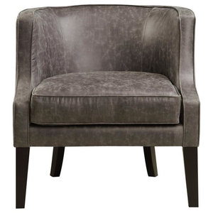 Melody Leather Armchair, Pellini Thunder